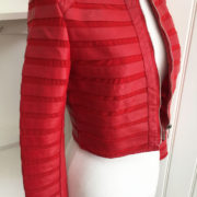 Red Stripe Detail Faux Leather Cropped Jacket (5)