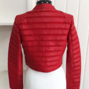 Red Stripe Detail Faux Leather Cropped Jacket (6)