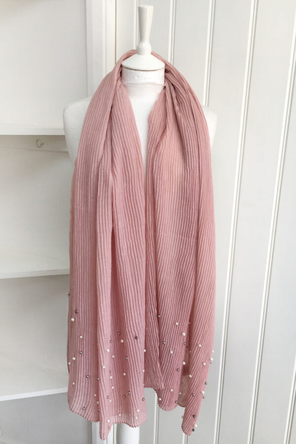 bdceec7e5322 Rose-Pink-Pleated-Pearl-Scarf-1-600x900.jpg ...