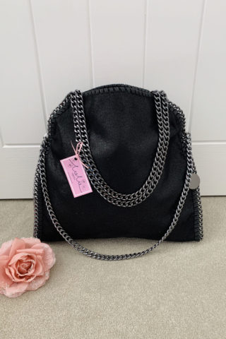 Black Large Chain Handbag