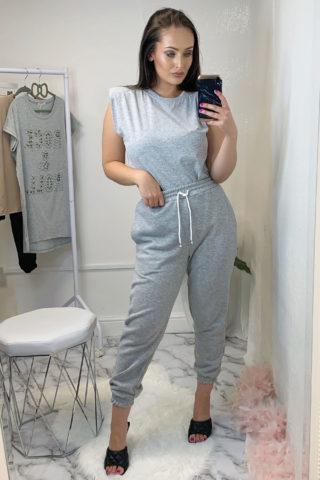 Grey High Waisted Joggers