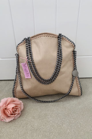 Nude Large Chain Handbag