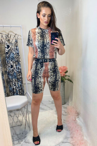 Coral Snake Print Co-Ord