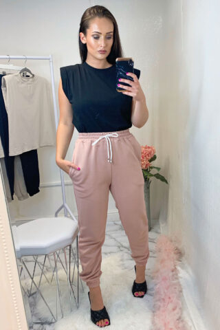 Pink High Waisted Joggers