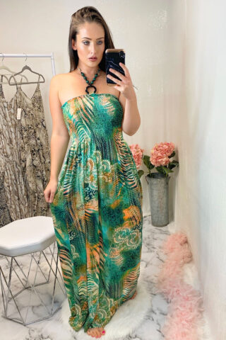 Halterneck Slinky Maxi Dress