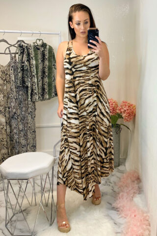 Tiger Print Slinky Dress