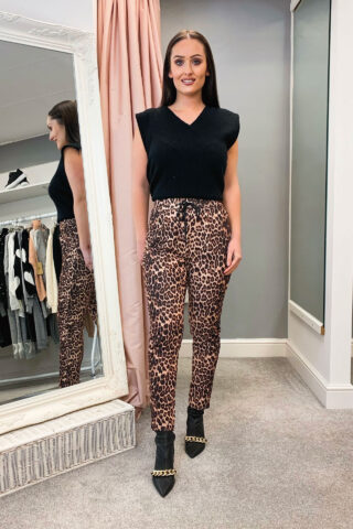 Leopard Print Tailored Joggers